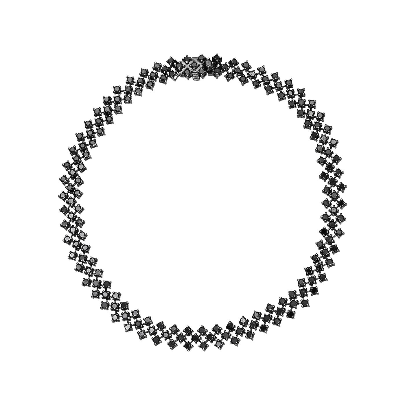 Bratara cu diamante negre