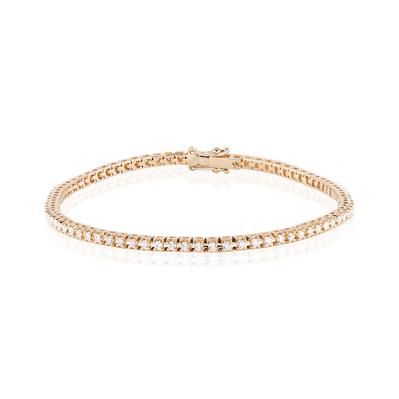 Bratara tennis aur roz cu diamante