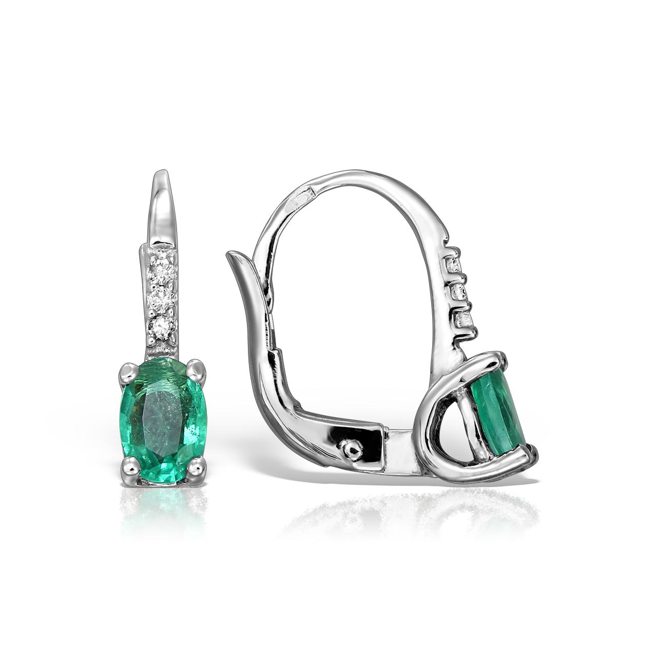 Cercei Cu Smarald Si Diamante Pentru Copii