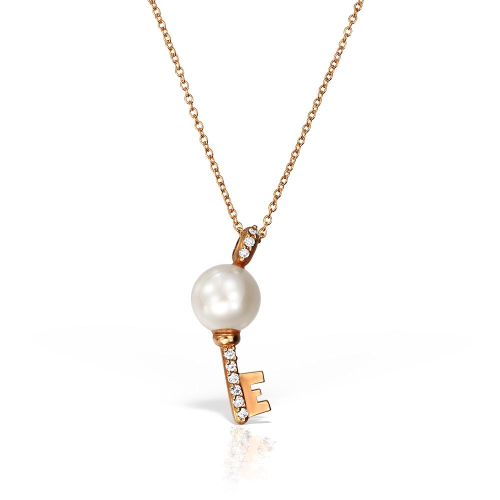 Colier cu perla si diamante