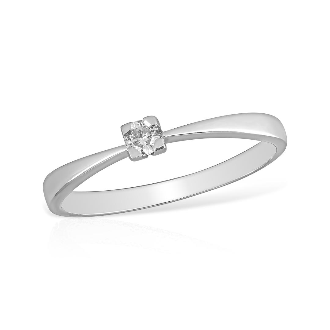 Inel aur alb cu diamant