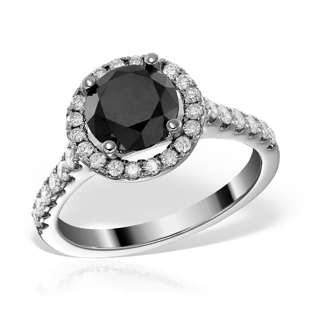 Inel de logodna cu diamant negru