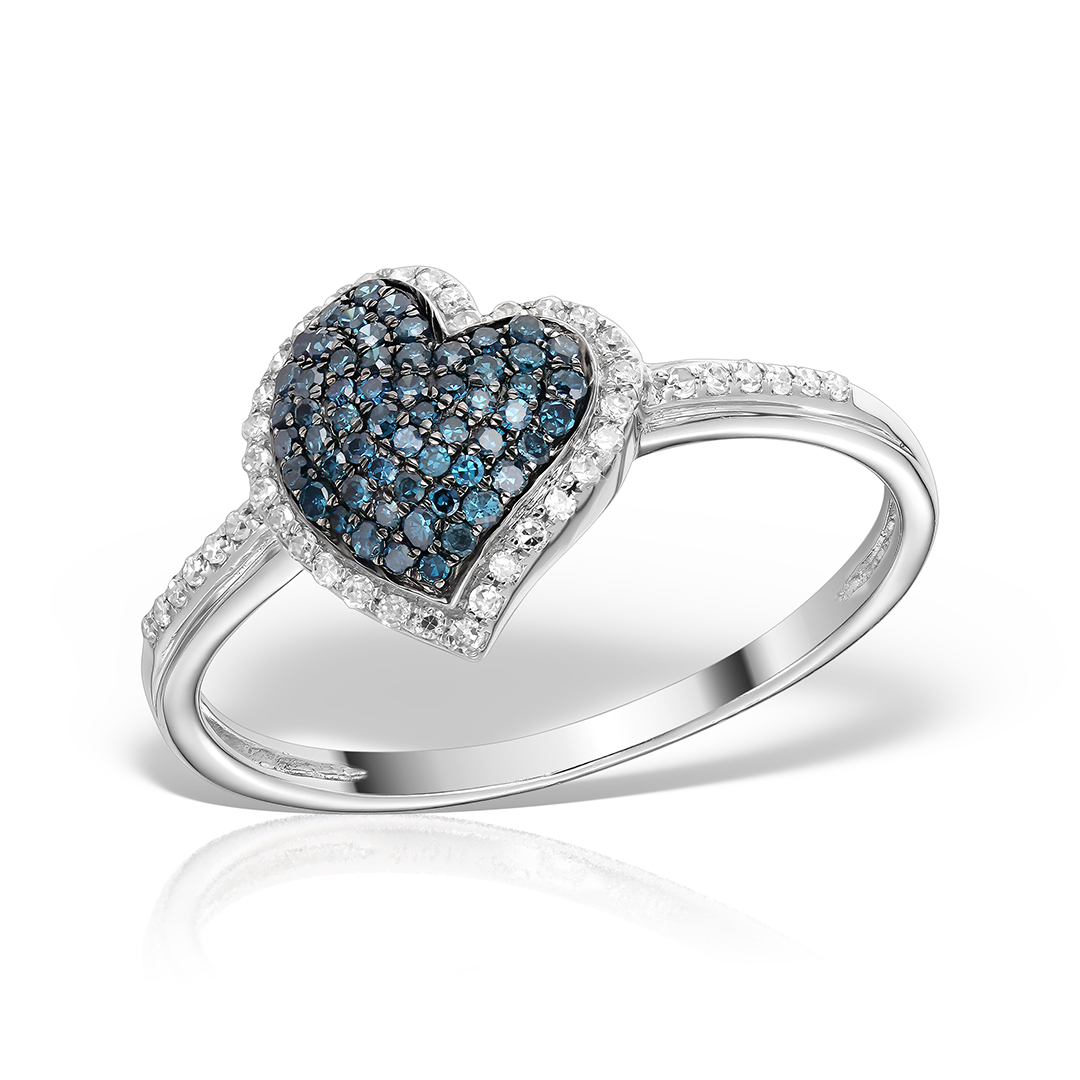 Inel de logodna cu diamante fancy