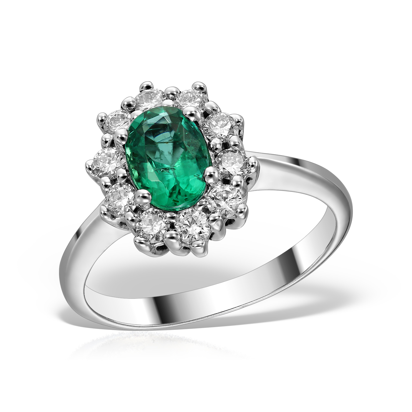 Inel de logodna cu smarald