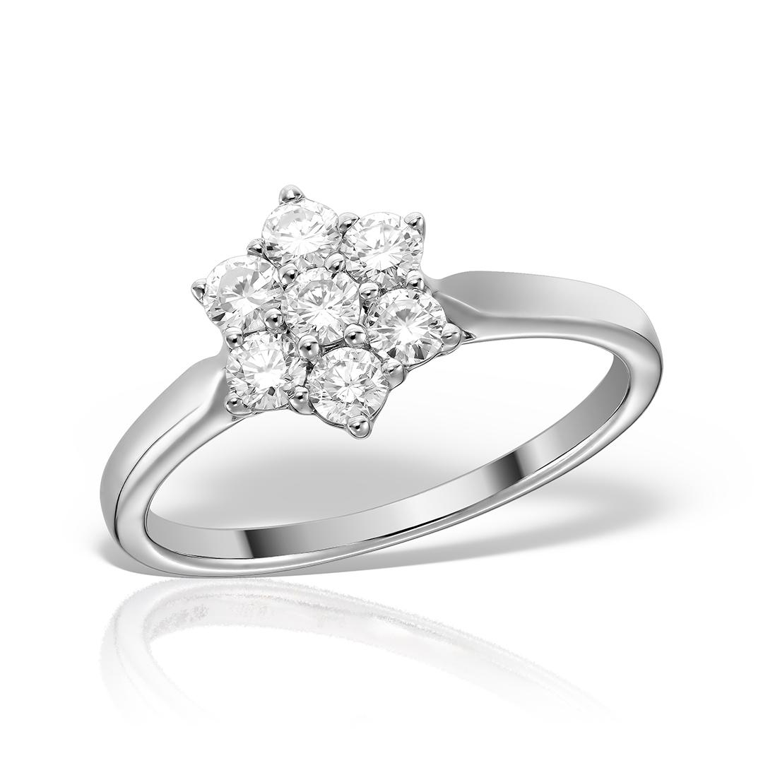 Inel de logodna din aur 18k cu diamante