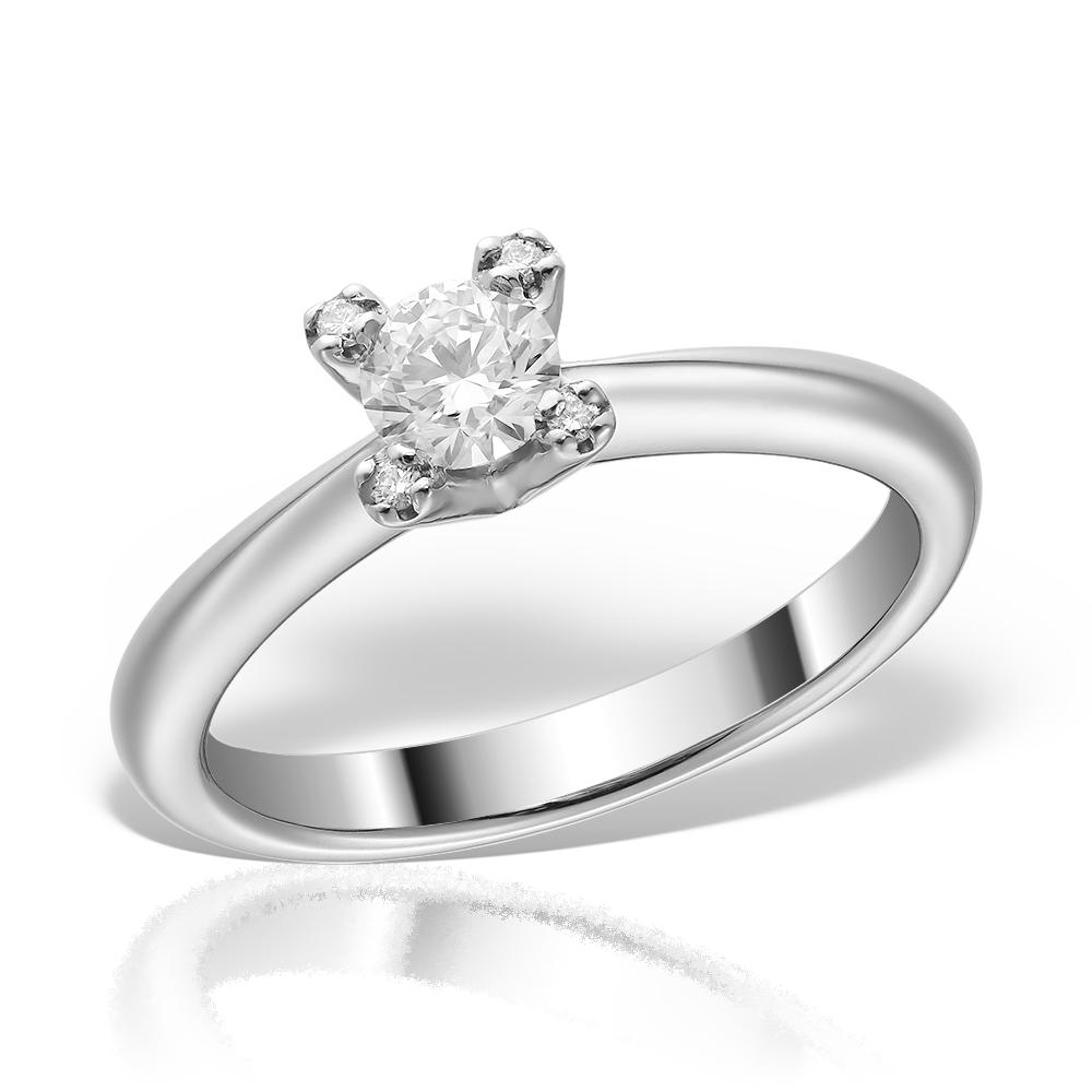 Inel de logodna din platina cu diamante