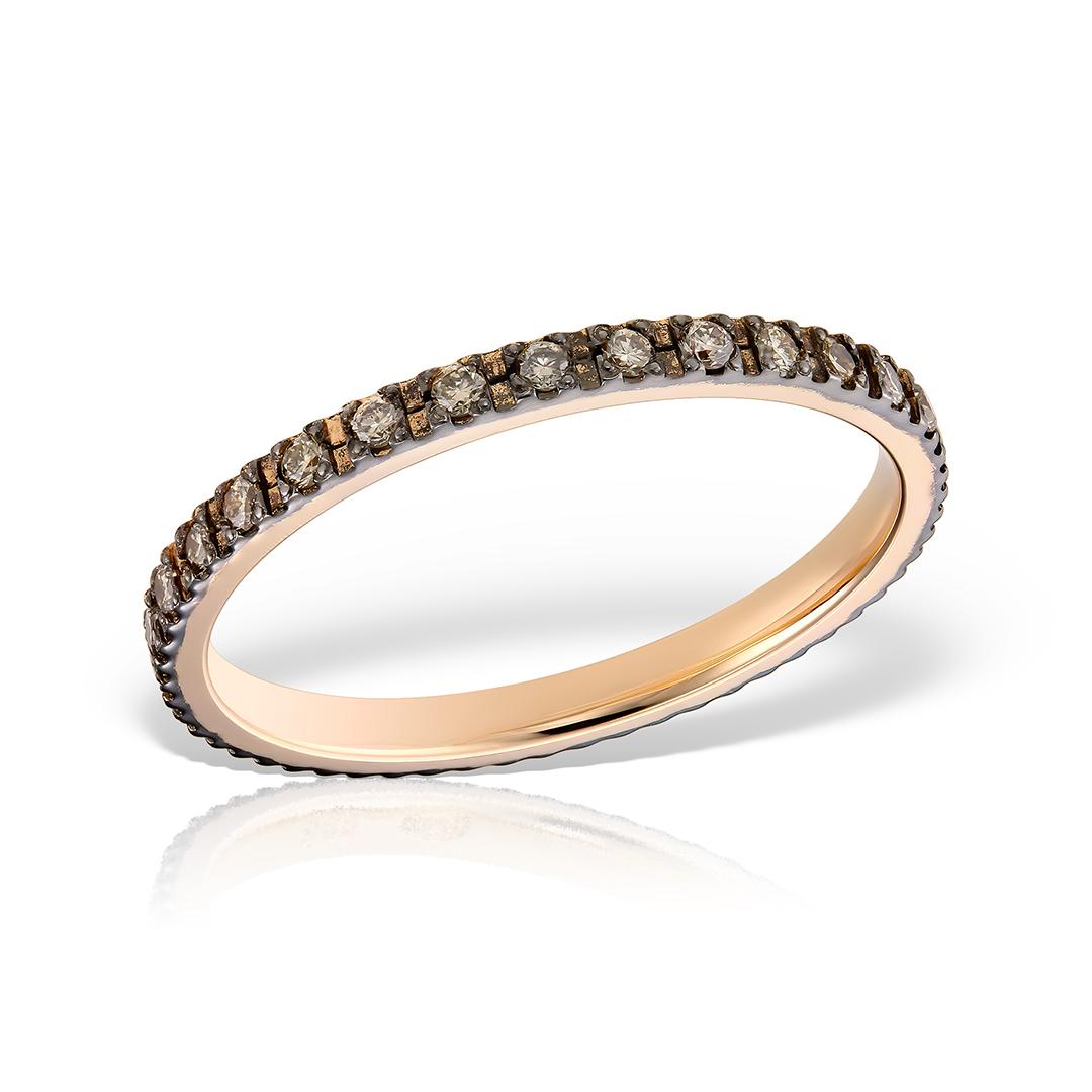 Inel eternity cu diamante brown