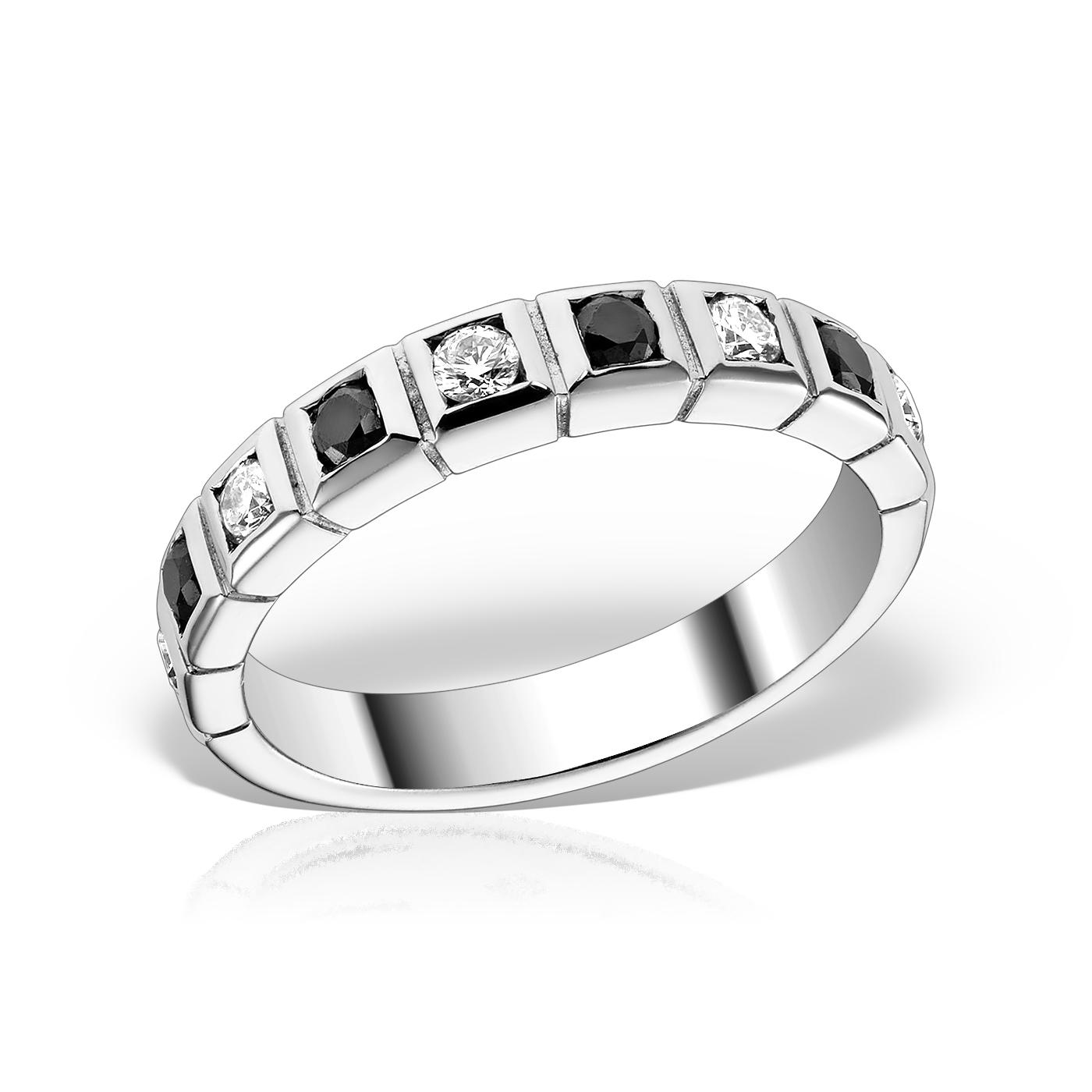 Inel semieternity cu diamante