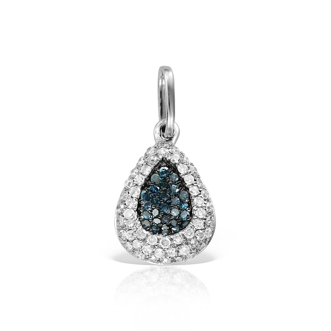 Pandantiv  cu diamante albastre