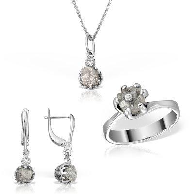 Bijuterii set cu diamante brute