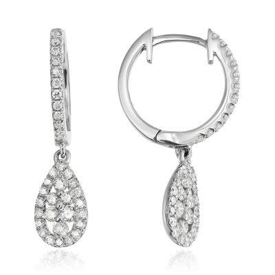 Cercei cu diamante  18k