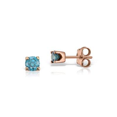 Cercei cu diamante albastre