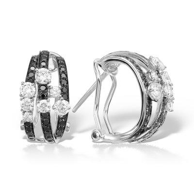 Cercei cu diamante colorate