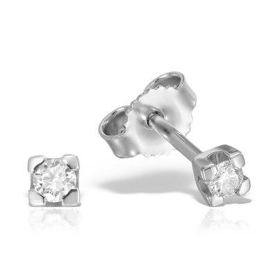 Cercei Solitaire Cu Diamante