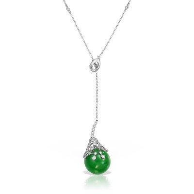 Colier aur cu jad si diamante