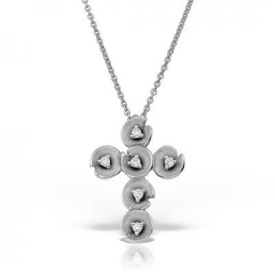Colier Cruce Cu Diamante