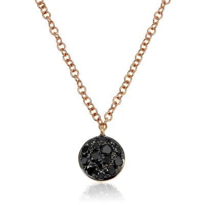 Colier cu diamante negre