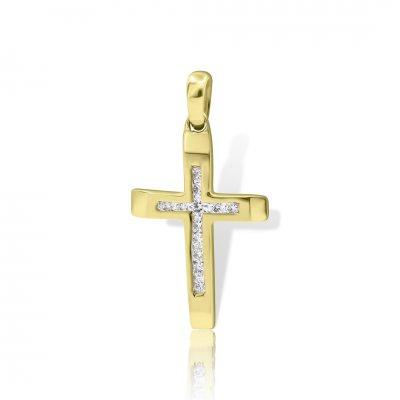 Cruce Aur Galben Cu Diamante