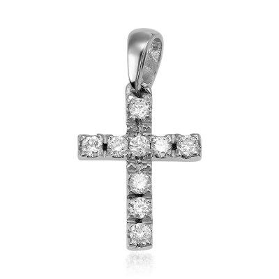 Cruce cu diamante albe