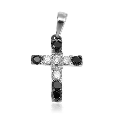 Cruce Cu Diamante Albe Si Negre