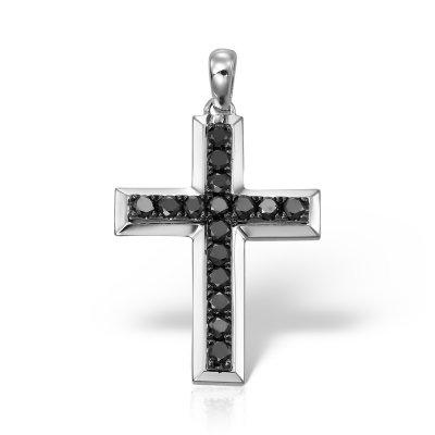 Cruce cu diamante negre