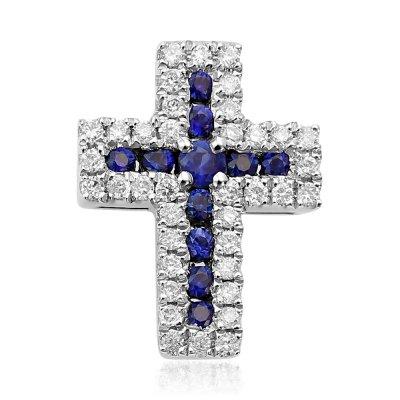 Cruce cu diamante si safire