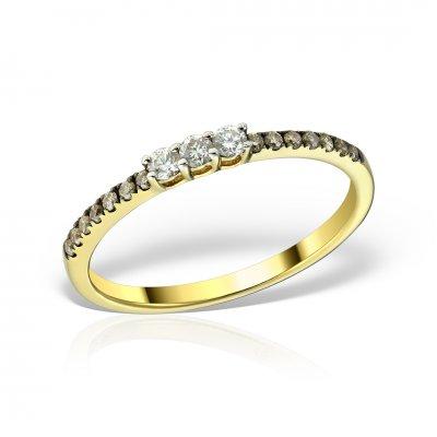 Inel Aur Galben Cu Diamante