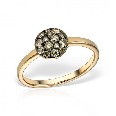 Inel cu diamante brown