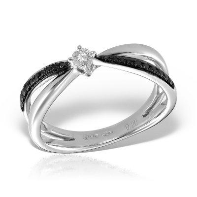 Inel cu diamante negre