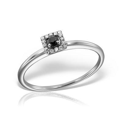 Inel cu safir si diamante