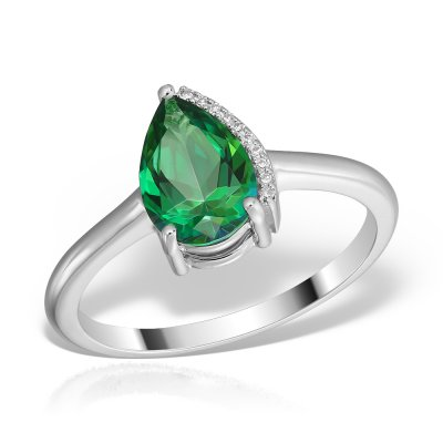 Inel Cu Topaz Si Diamante