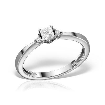 Inel de logodna cu diamante