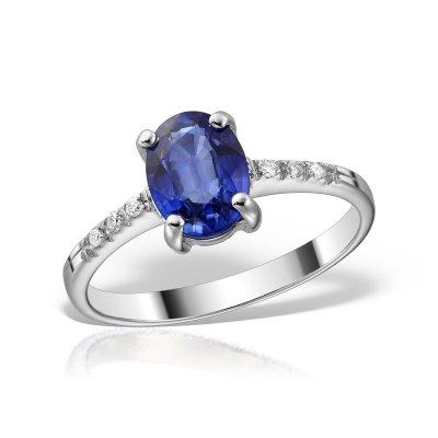 Inel de logodna cu safir
