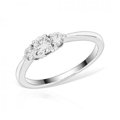 Inel De Logodna Trilogy Cu Diamante