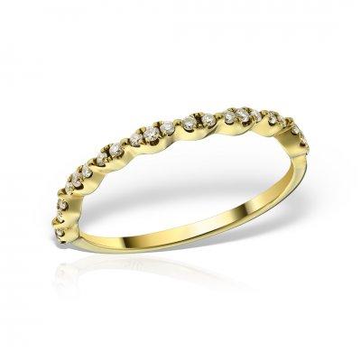 Inel Din Aur Galben Cu Diamante