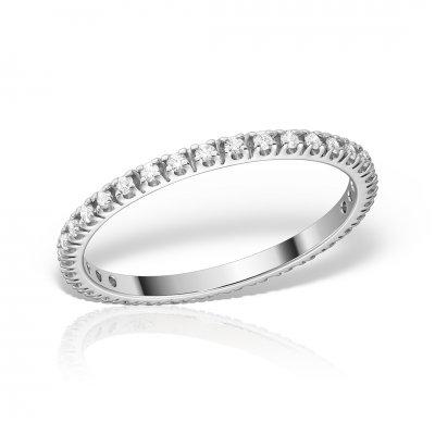Inel eternity aur alb cu diamante