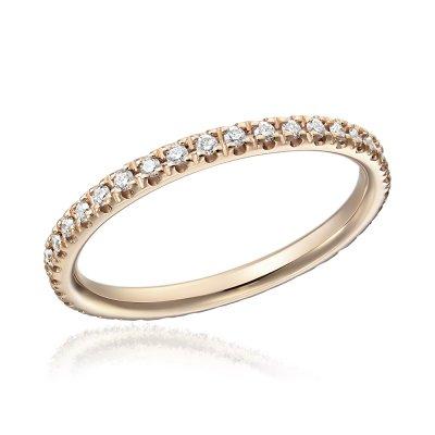 Inel Eternity Aur Roz Cu Diamante