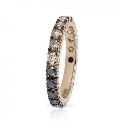 Inel Eternity Cu Diamante Black&brown