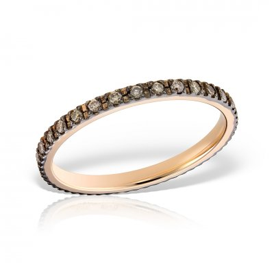 Inel eternity cu diamante brown