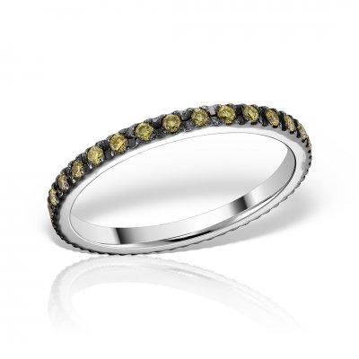 Inel eternity cu diamante fancy