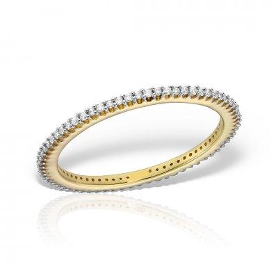 Inel eternity din aur galben cu diamante