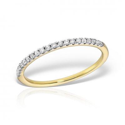 Inel Semi Eternity Aur Galben Cu Diamante