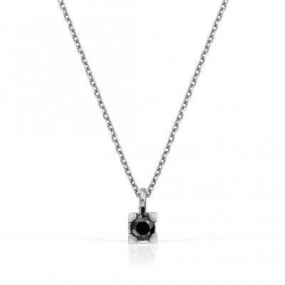 Lant solitaire cu diamant negru