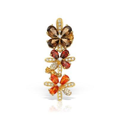 Pandantiv aur cu pietre colorate