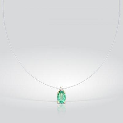 Pandantiv cu smarald pe guta